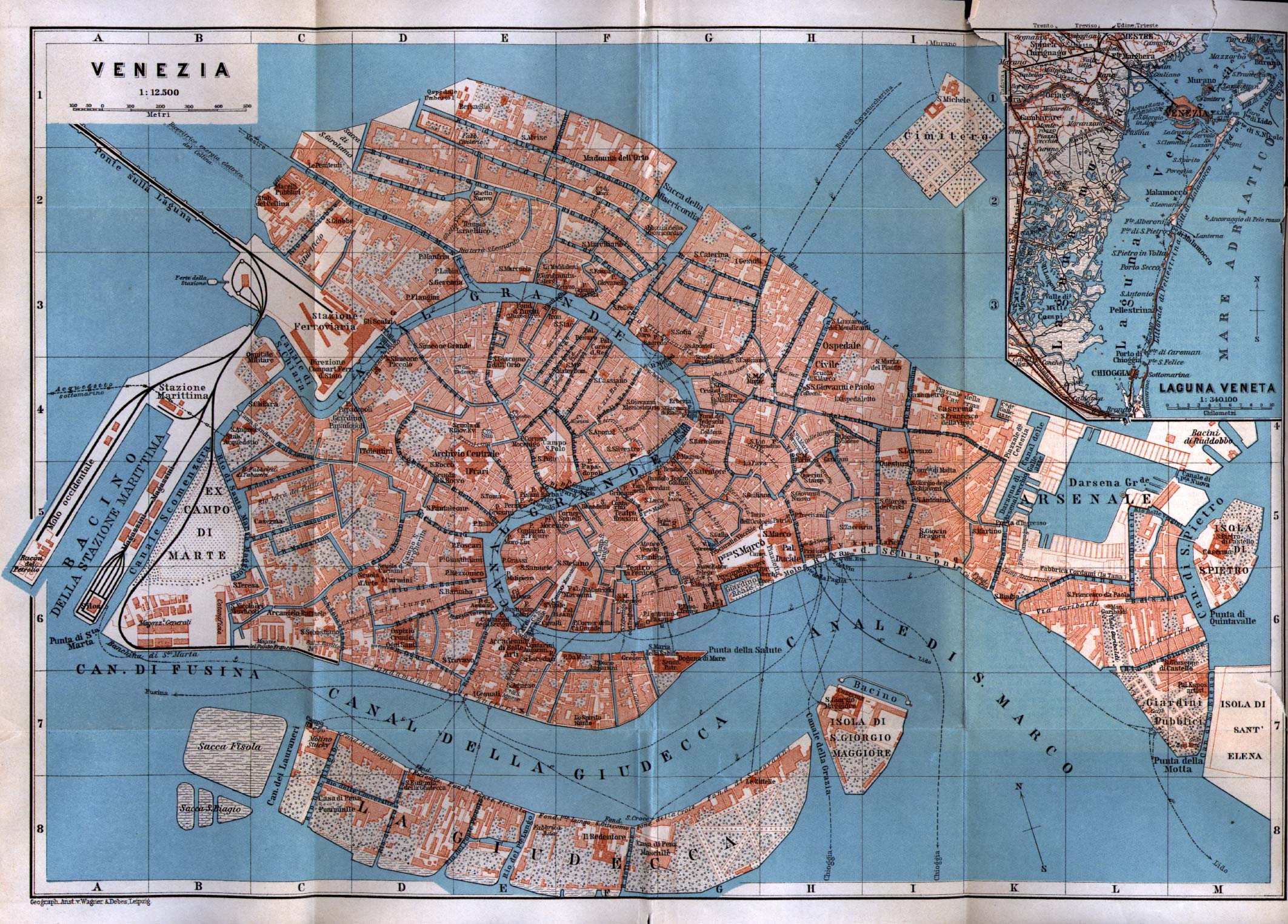 Cartina Turistica Venezia Da Stampare.Mappa Venezia Ecco Come Orientarsi Nella Citta Lagunare Turista Fai Da Te