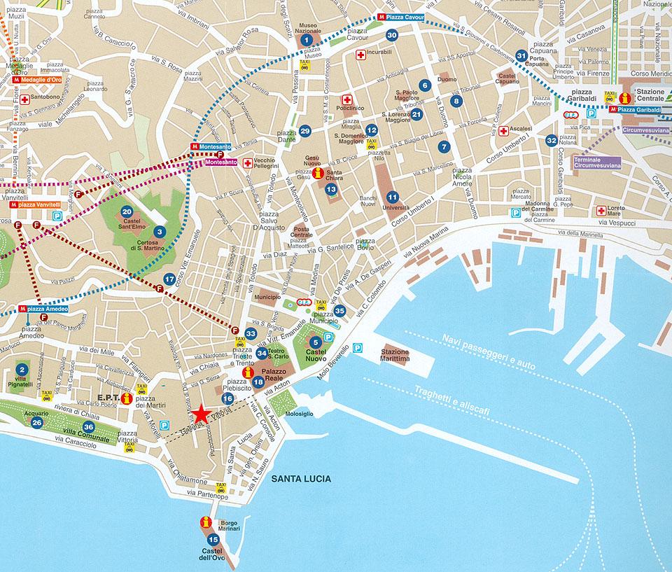 Cartina Stradale Di Napoli Citta.Mappa Napoli Tutto L Occorrente Per Orientarsi A Napoli Turista Fai Da Te