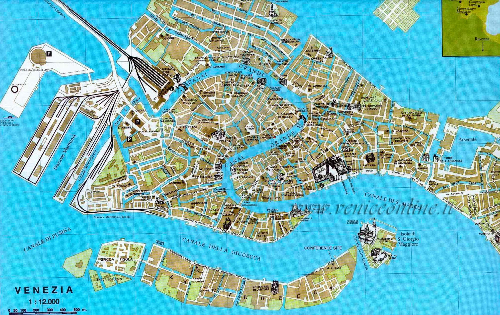 Mappa Venezia: ecco come orientarsi nella città lagunare