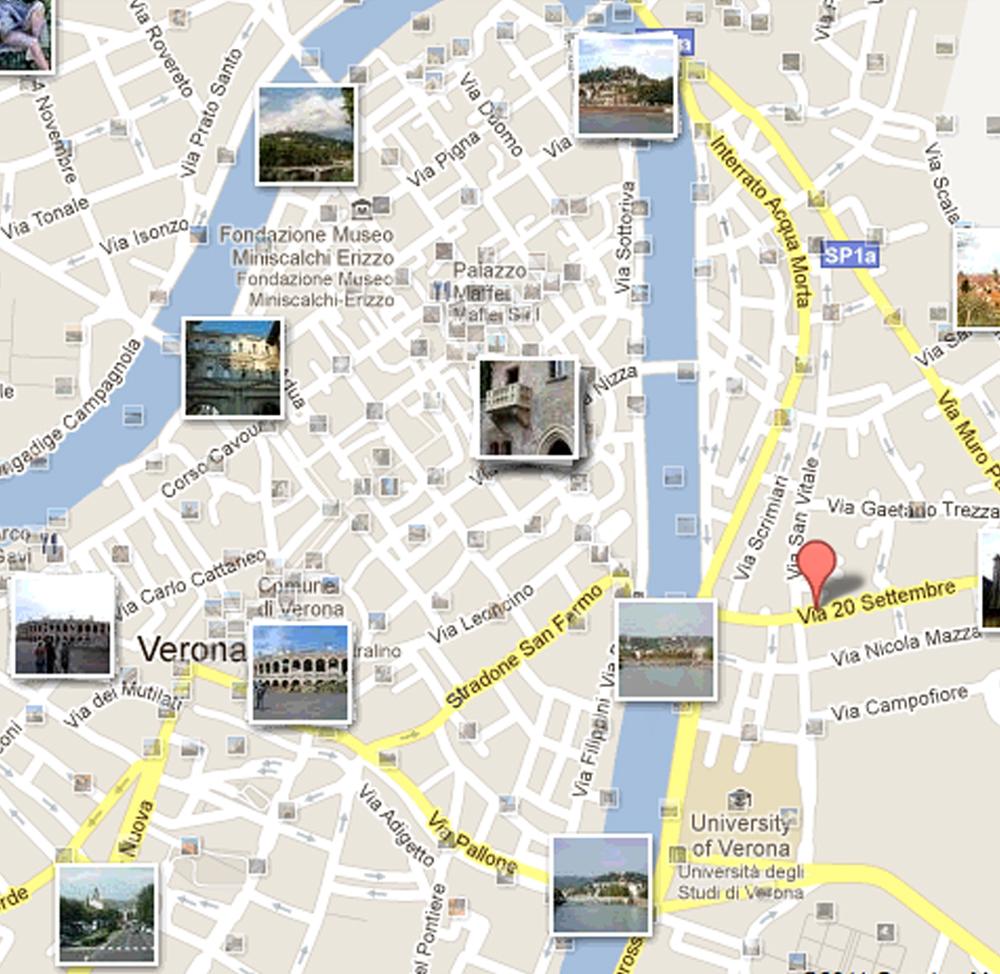 Cartina Verona.Mappa Verona Come Orientarsi Nella Citta Di Romeo E Giulietta