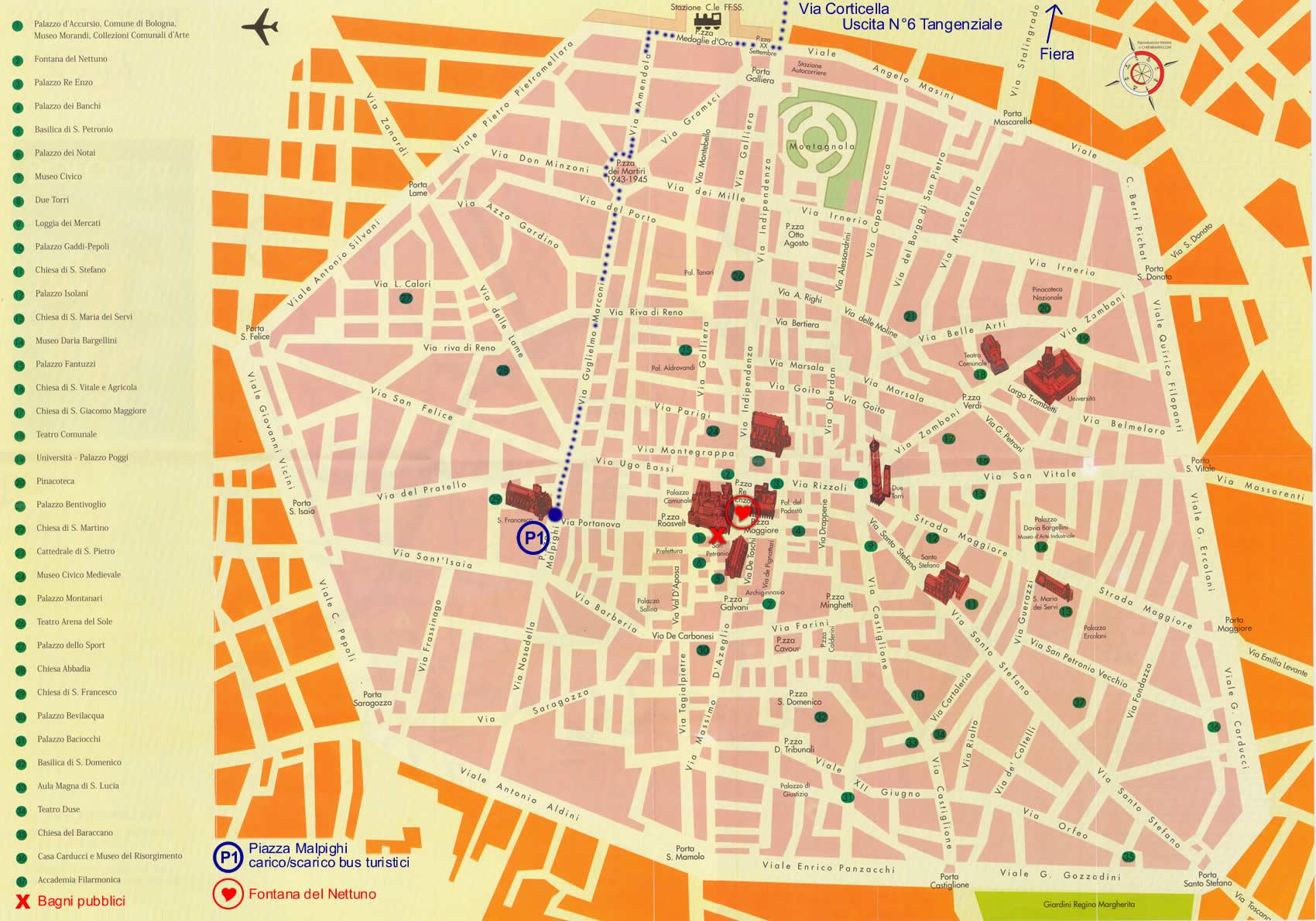 fiera di modellismo bologna italy map - photo#23