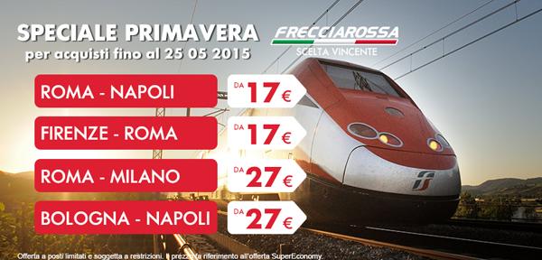 Offerte Trenitalia: con lo Speciale Primavera si viaggia a prezzi ridotti!
