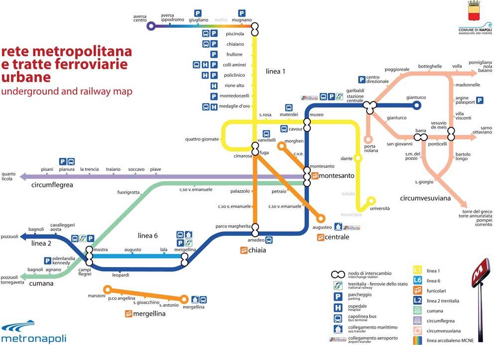 Metro Napoli: le linee e altre info utili su eventi e meteo del Comune Napoli