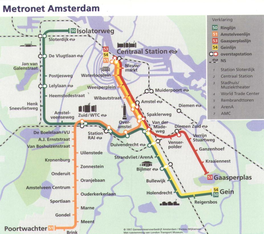 Metro Amsterdam: info utili sulla metro Amsterdam e sul meteo Amsterdam