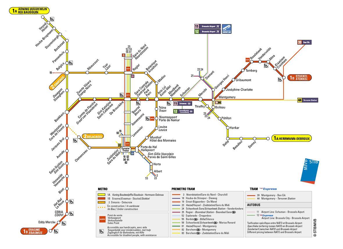 Metro Bruxelles: la mappa e le info utili