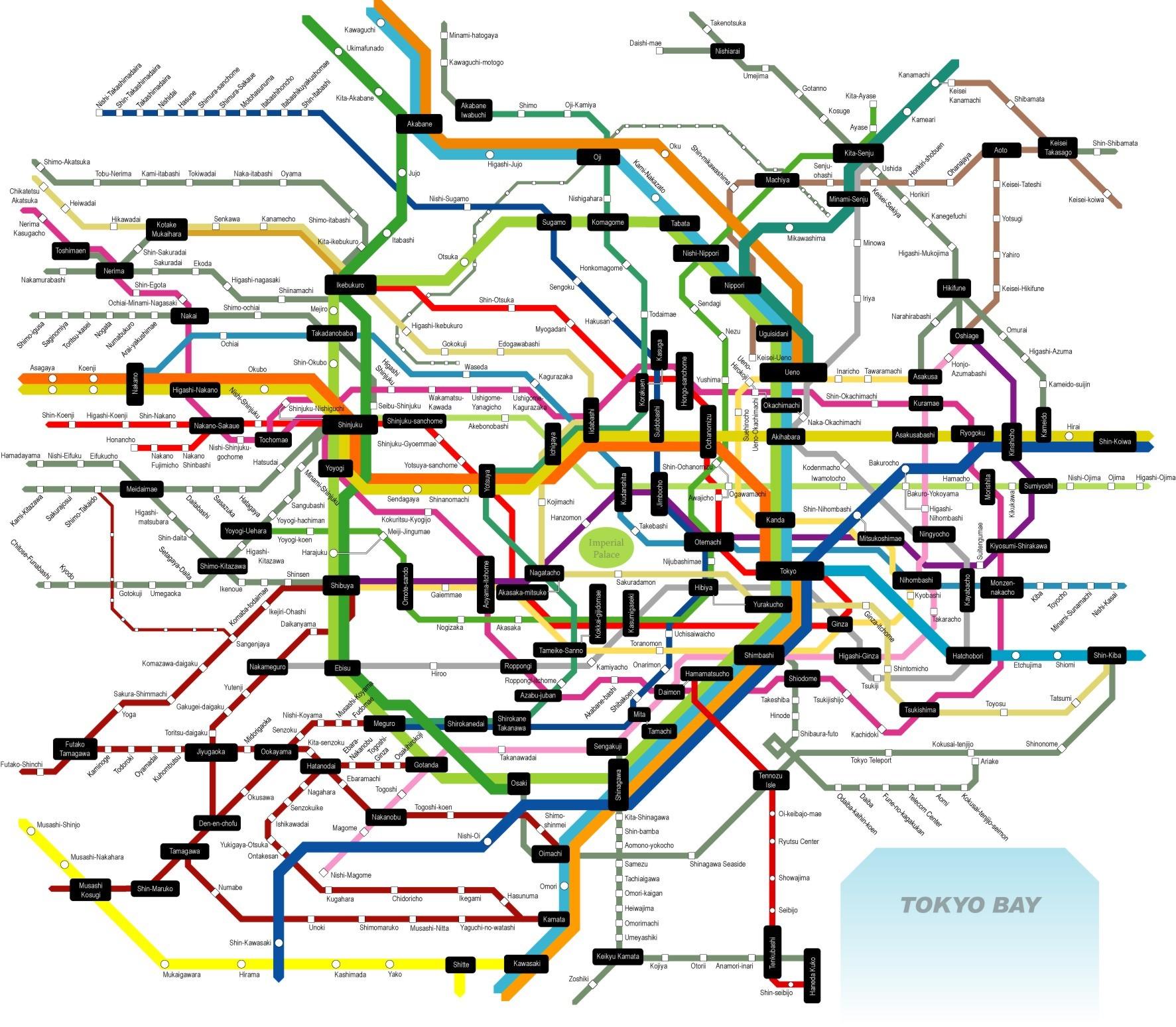 Metro Tokyo: la mappa e tutte le info utili