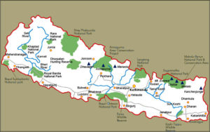 Nepal-mappa-turistica