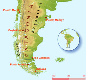 Patagonia-mappa