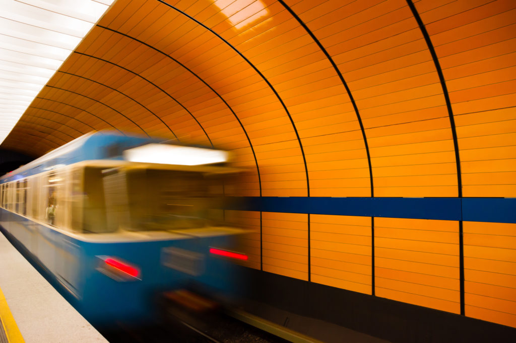 treno della metro di monaco