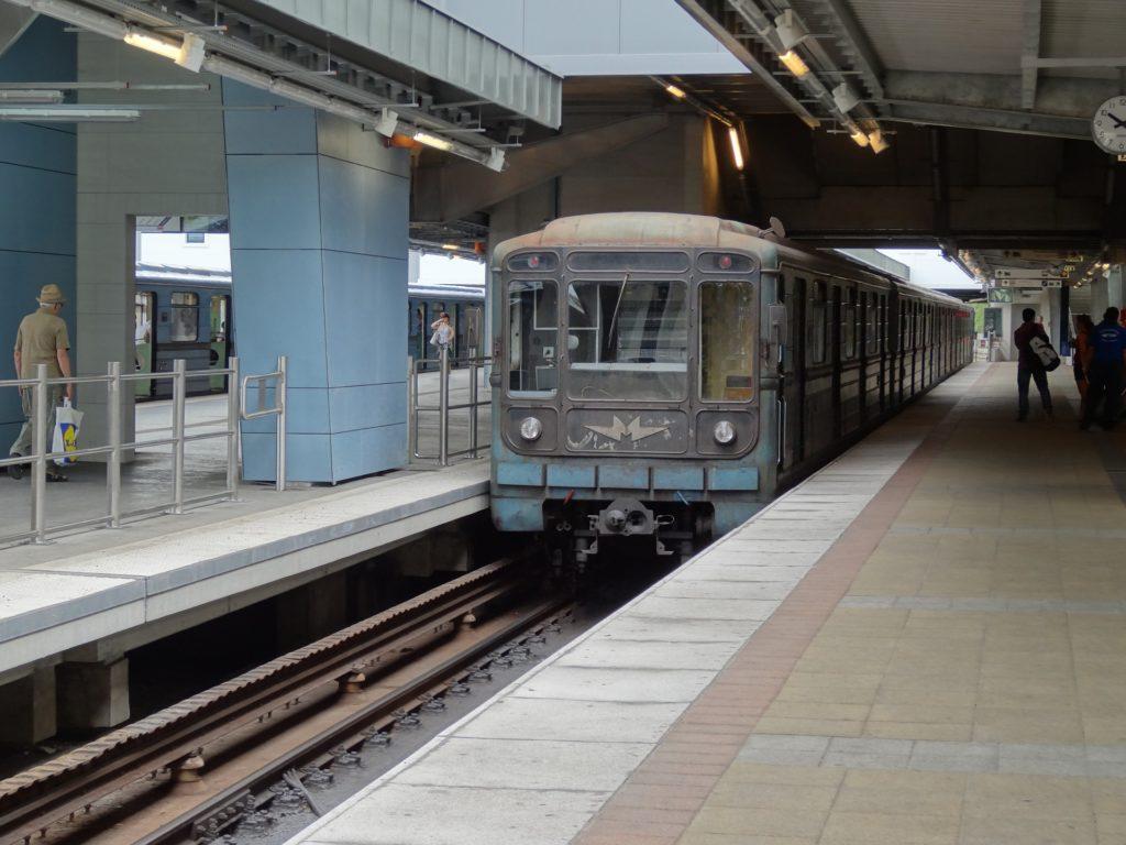 treno della metro di Budapest