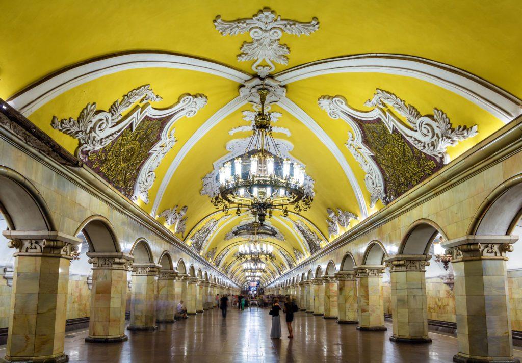 Stazione Komsomolskaya, metro di Mosca.